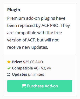 ACF Proへのアップグレード