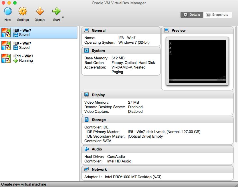 VirtualBox画面
