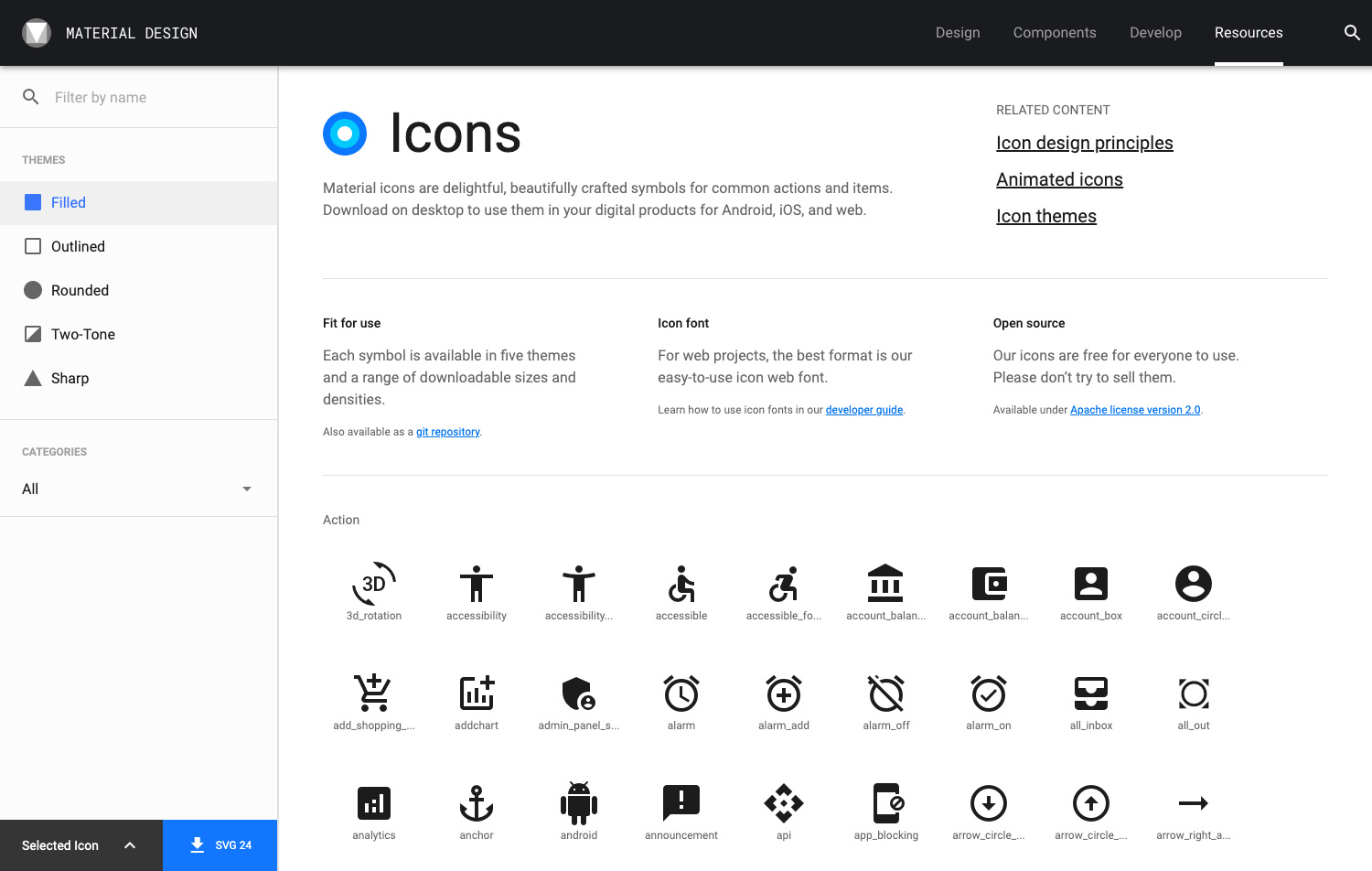 Material Design Icons by Google