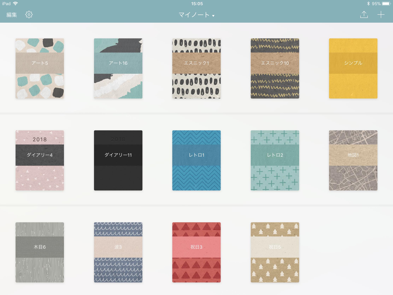 Noteshelf 2の表紙デザイン