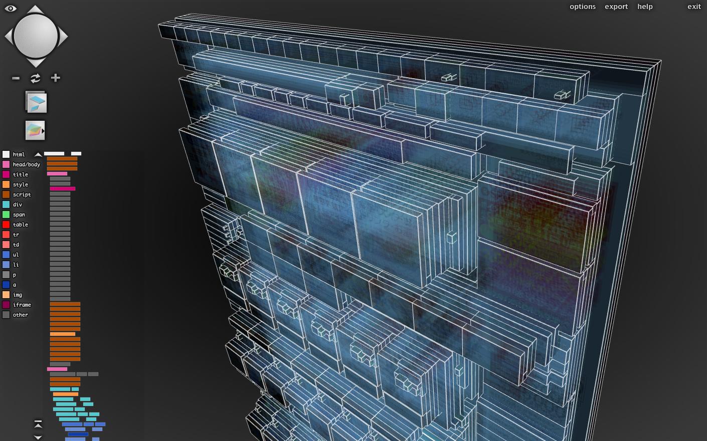 サイト構造を立体的に3D化するFFプラグイン「Tilt 3D」