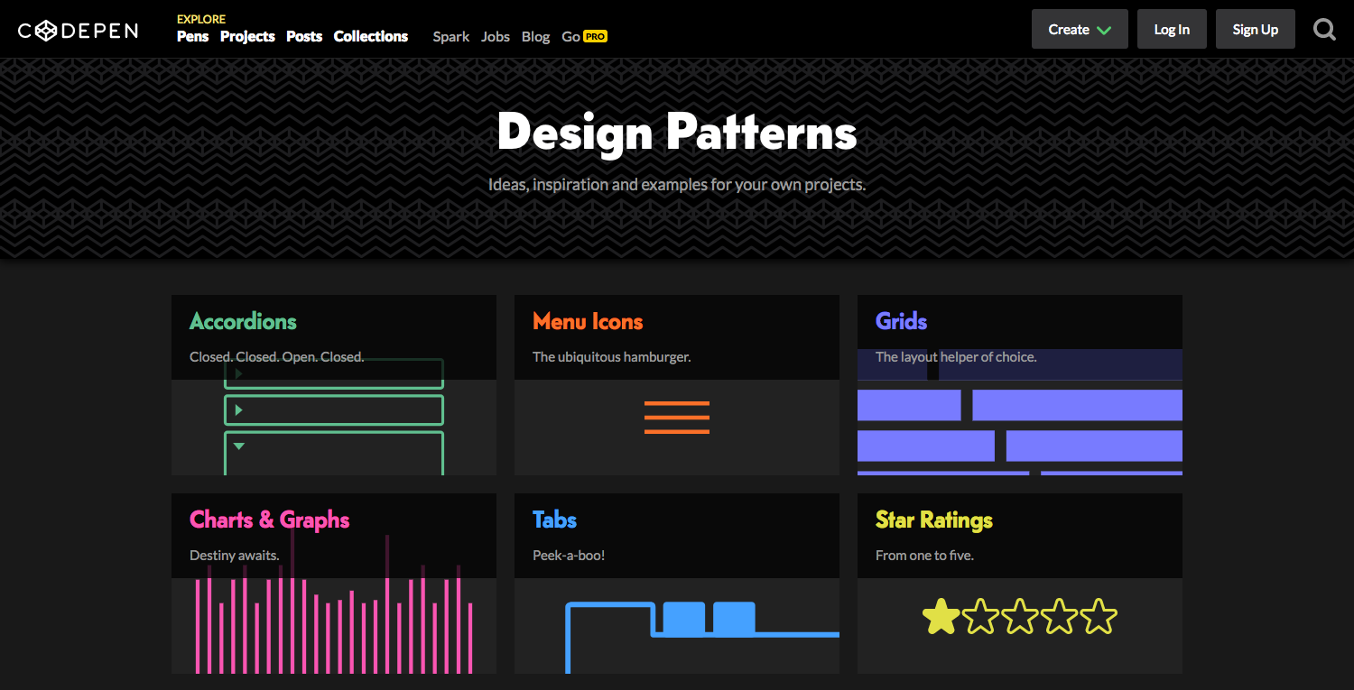 Design Pattern on Codepen
