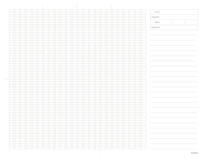 KOGNI - グラフ(方眼)のワイヤーフレーム