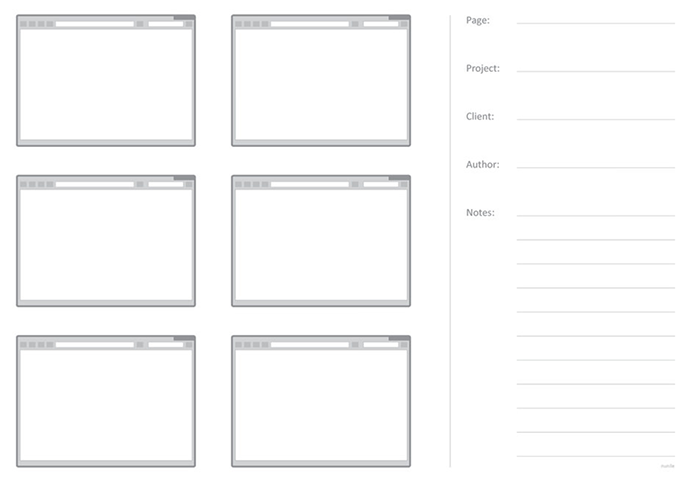 Web Sketching Template 6ページ