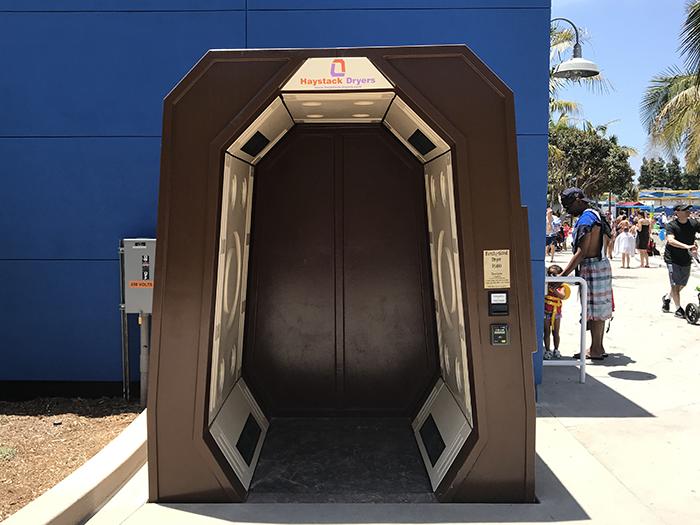 レゴランド・カリフォルニア ウォーターパーク 乾燥機