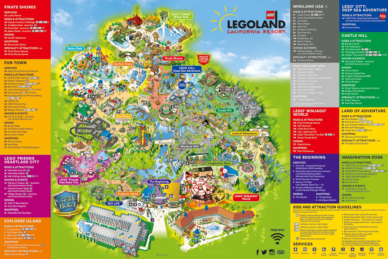 LEGOLAND Calfornia Resort 地図