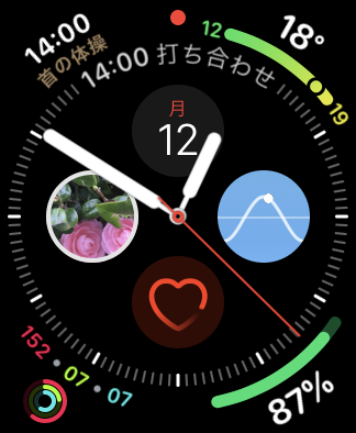 Apple Watch 4の文字盤「インフォグラフ」