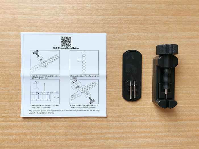 Apple Watchのバンド交換 - 長さ調節の工具