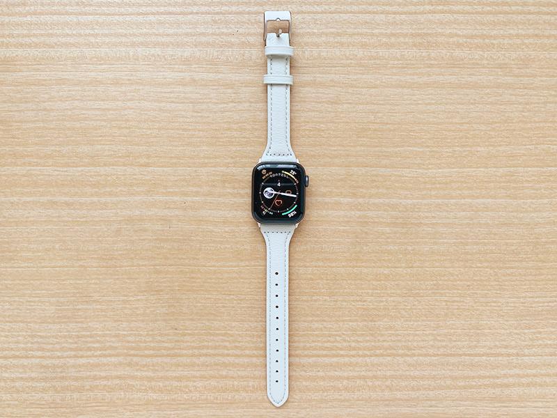 コンパチ 細めな本革製Apple Watch バンド