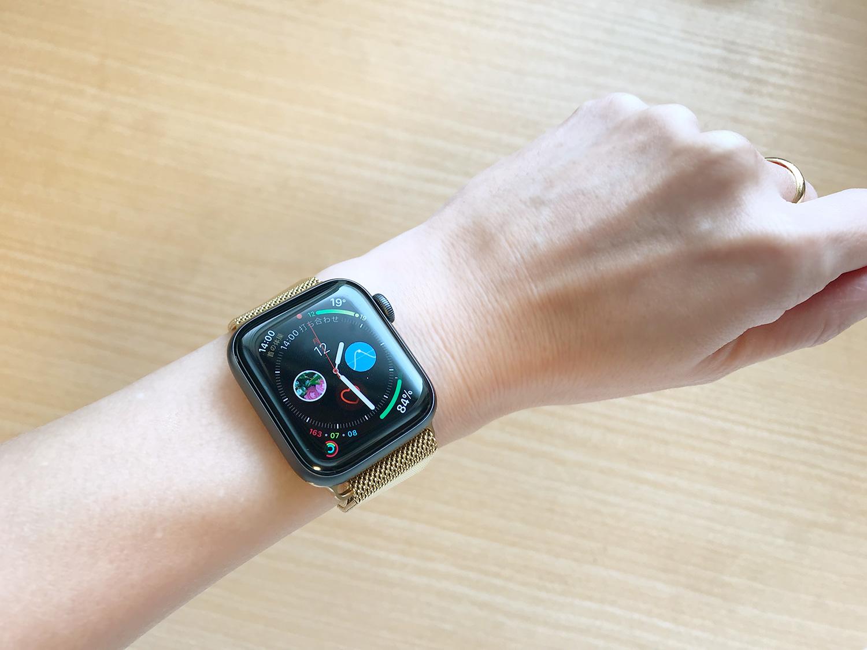 Apple Watch バンド ミラネーゼループ(着画)