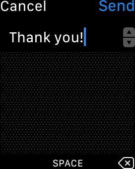 Apple Watch - メッセージ返信画面(手書き)