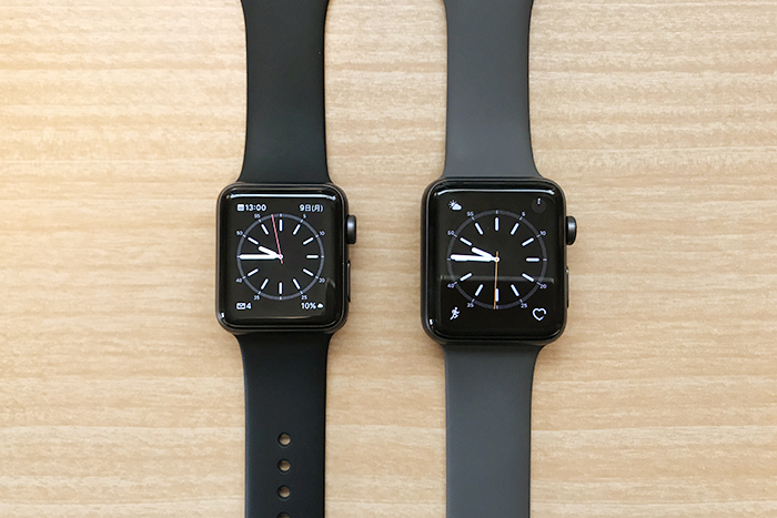 Apple Watch 38mmと42mmサイズ比較