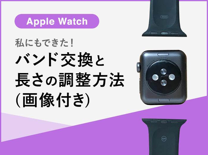 【Apple Watch】私にもできた!バンドの交換方法と長さの調整(画像付き)