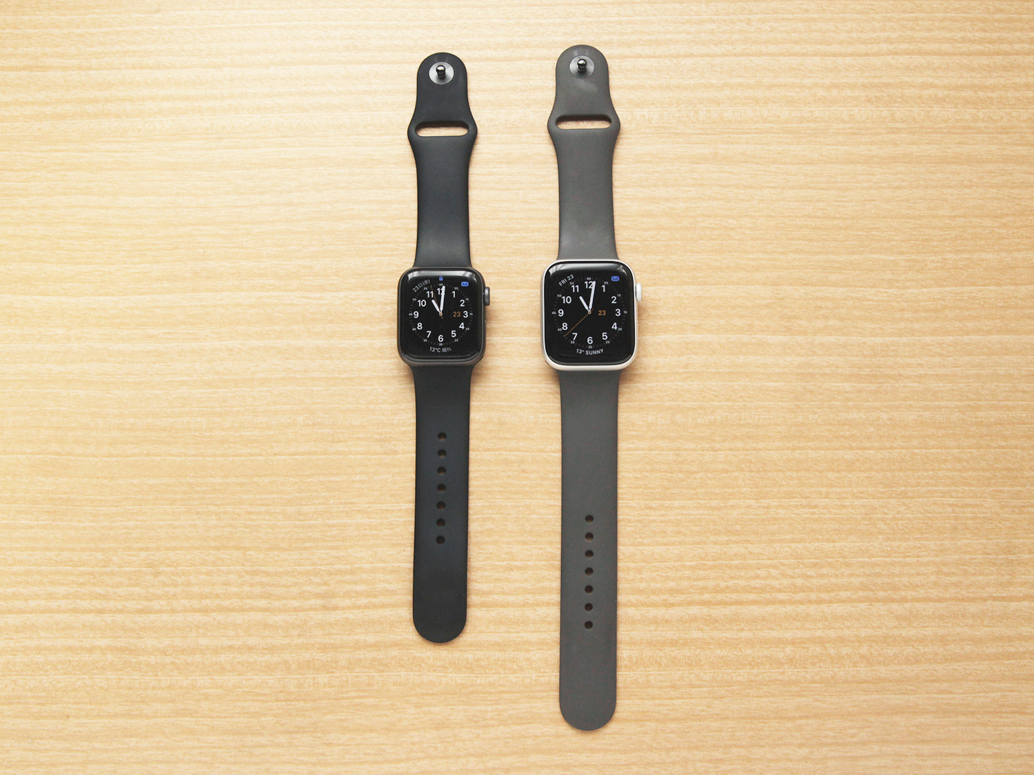 Apple Watch Seires 4の40mmと44mmサイズ比較