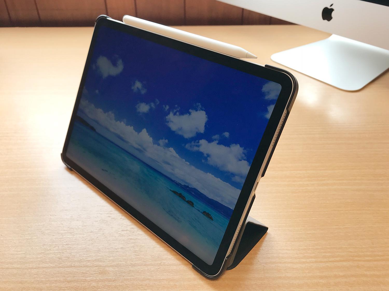 Apple Pencil2を収納・充電可能!格安iPad Pro 11インチ用ケースのスタンド機能