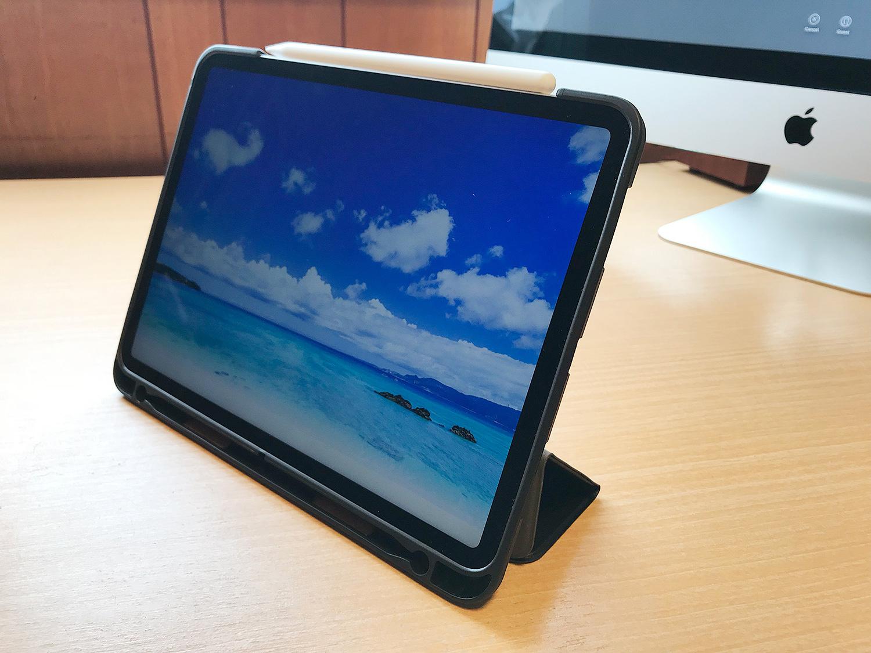 Apple Pencil2収納充電可能な1000円代の11インチiPad Proケースのスタンド機能