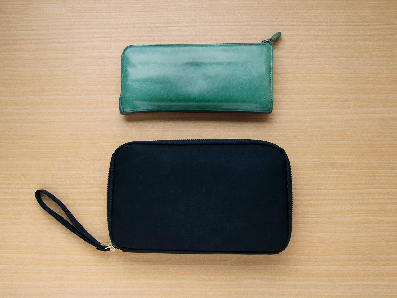 ほぼ日手帳「ひきだしポーチ・姉」と長財布とのサイズ比較