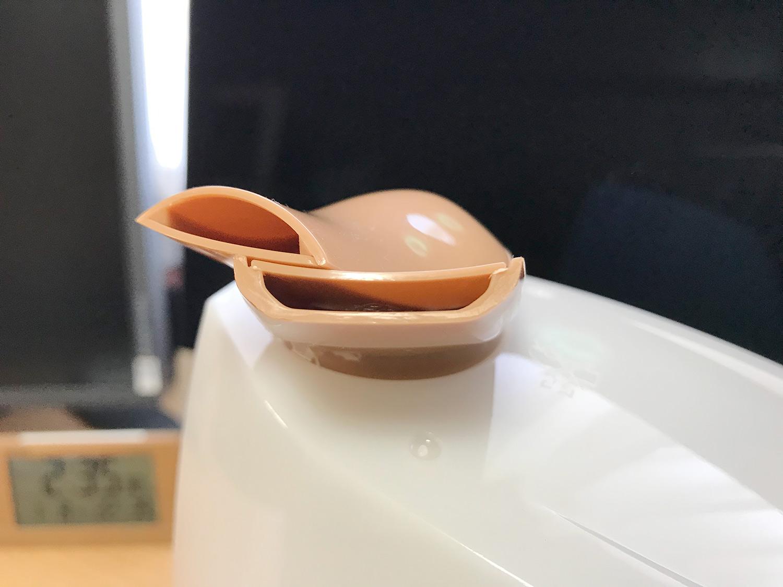 超音波加湿器「uruoi+(うるおいプラス)」のノズル部分