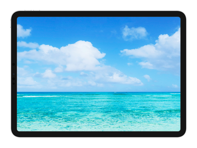 iPad Pro 11インチの外観(ベゼル幅)