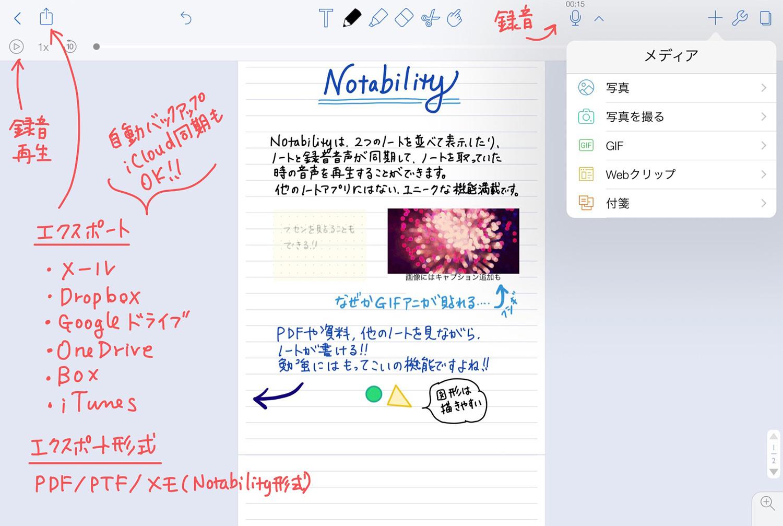Notability 記入例サンプル
