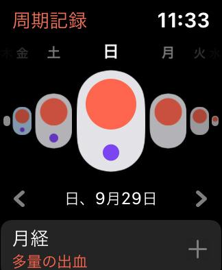 Apple Watchの周期記録で生理や症状を記録する