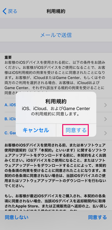 子供用Apple IDの作成方法:利用規約に同意する