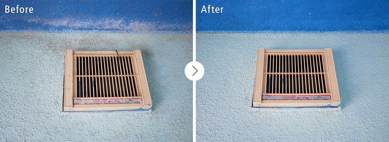 おそうじ本舗の浴室クリーンニング:換気扇のカビ・汚れ ビフォーアフター(Before After)