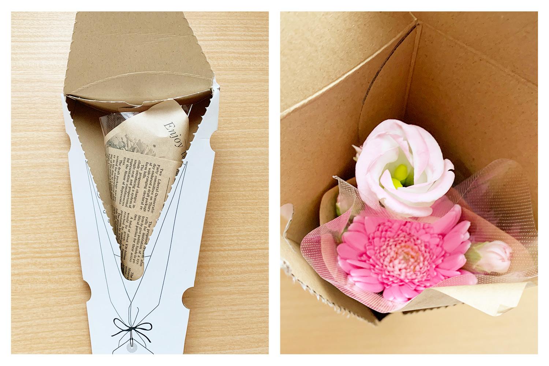 BloomeeLIFE(ブルーミーライフ)お花のパッケージを開けてみる