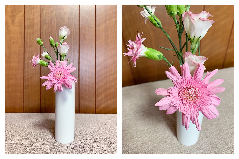 500円コース 一週目のお花