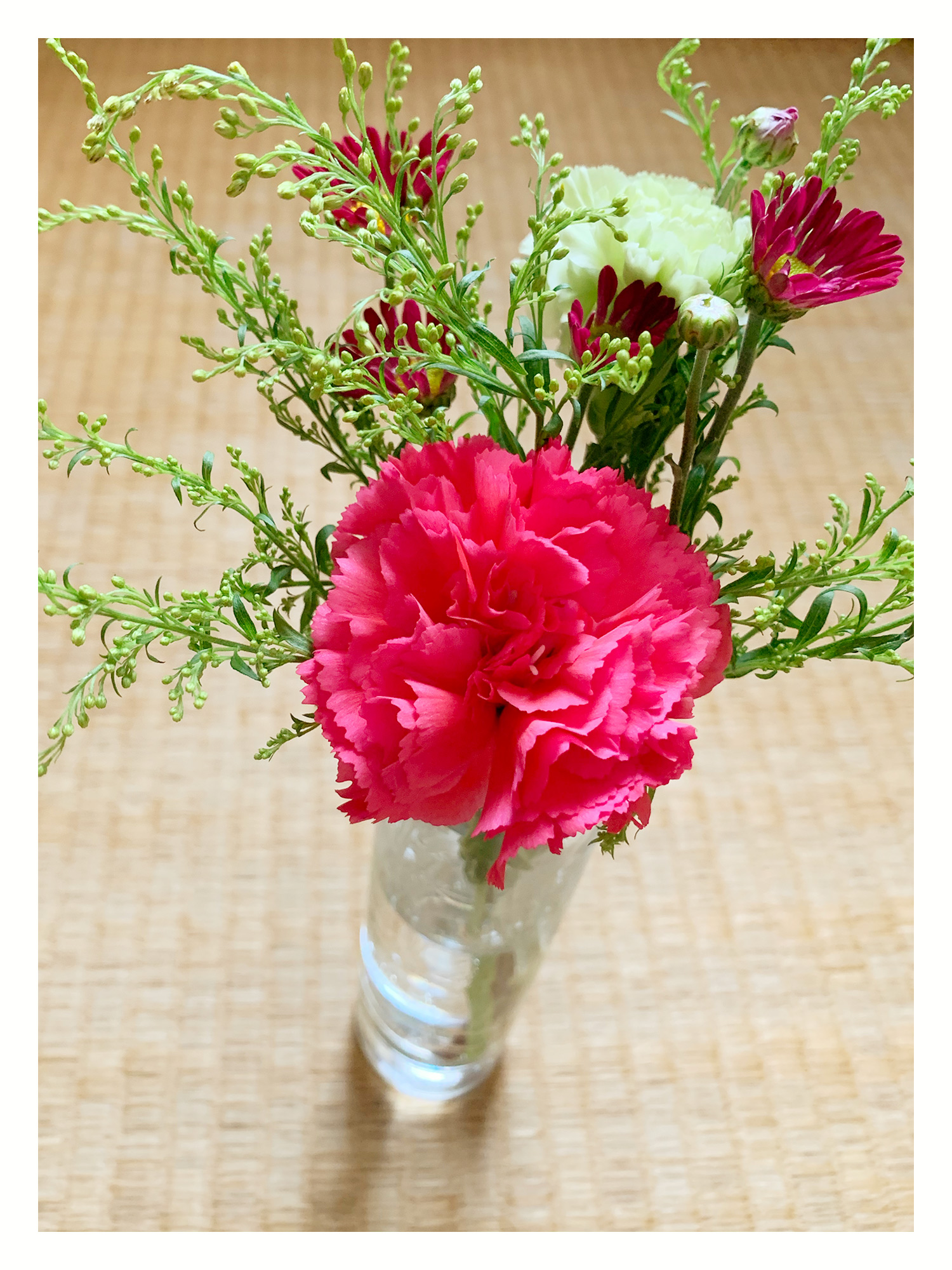 500円コース 二週目のお花