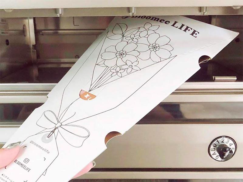 BloomeeLIFE(ブルーミーライフ)のお花はポストに届くので、不在時でも受け取り可能